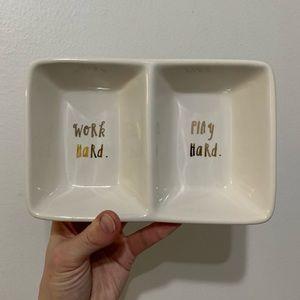RAE DUNN | Divided Trinket Tray